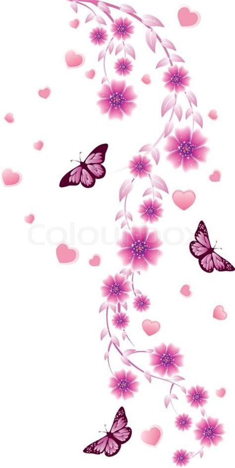 pink ornament rosa ornament mit blumen vektorgrafik colourbox