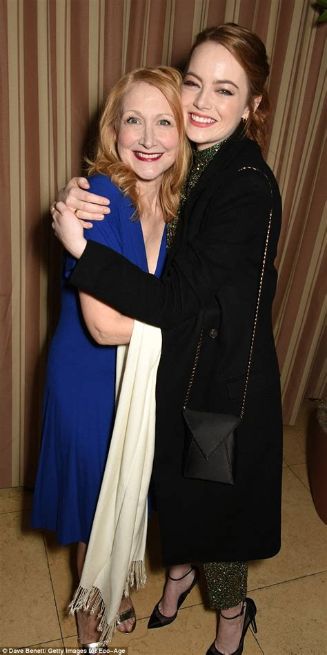 patricia clarkson pieces of april oscar favorite emma stone shines at upscale dinner in la