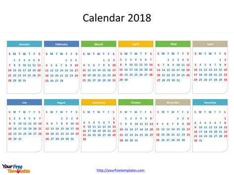 april 2018 calendar template powerpoint printable calendar 2018 free powerpoint templates