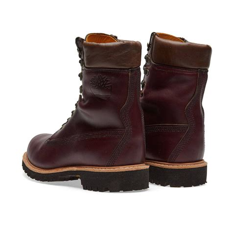 timberland vibram 8 inch waterproof boots burgundy horween