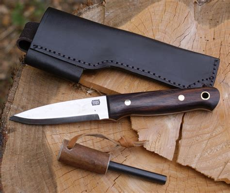 Carbon Steel Kitchen Knives For Sale a wright amp son 701 rosewood handled bushcraft knife with
