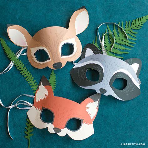 woodland forest animals coloring masks woodland animal