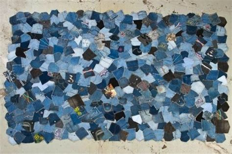 Denim Rag Rugs More Recycling Ideas For Kids Blue Jeans Denim Pockets