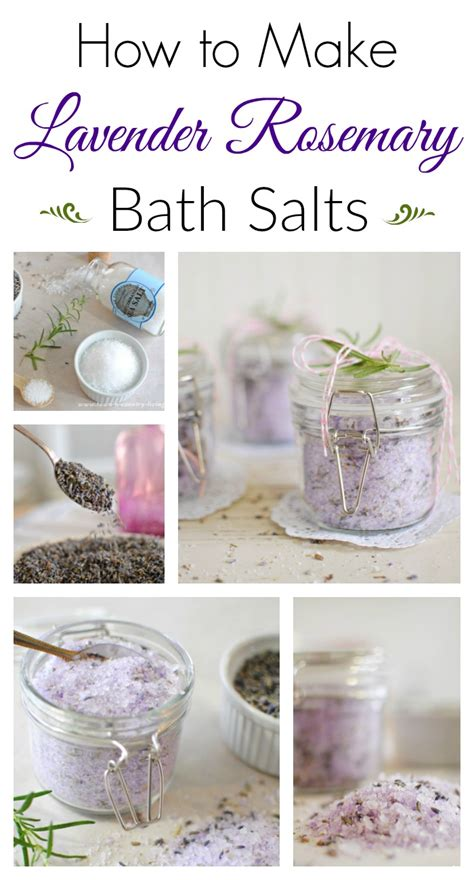 how to make lavender rosemary bath salts town country living