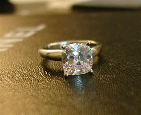Carat Cushion Cut Diamond Ring On Hand Hd Post Photos Only