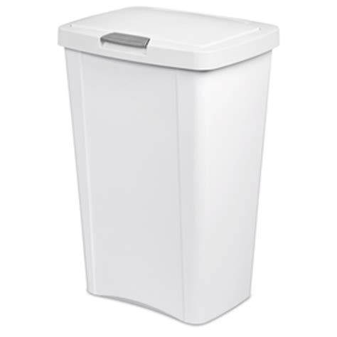Kitchen Trash Can 13 Gallon by Shop Sterilite Corporation White Wastebasket At Lowes