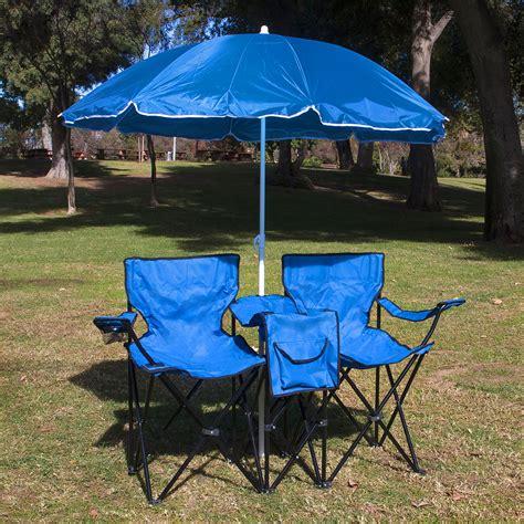 picnic folding chair with umbrella picnic fold up folding chair w umbrella table