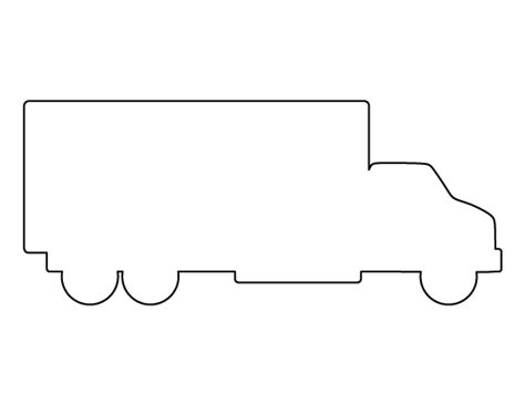 vehicle outline templates truck pattern use the printable outline for crafts