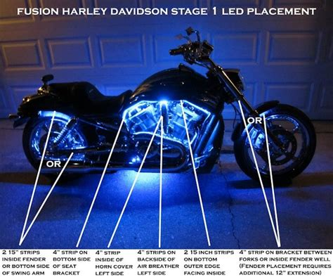 harley led light fusion 21 color led lighting harley kits
