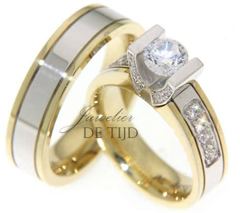 Cincin Solitare Berlian Banjar Model Baru Ring Emas Putih verlovingsring juwelier de tijd