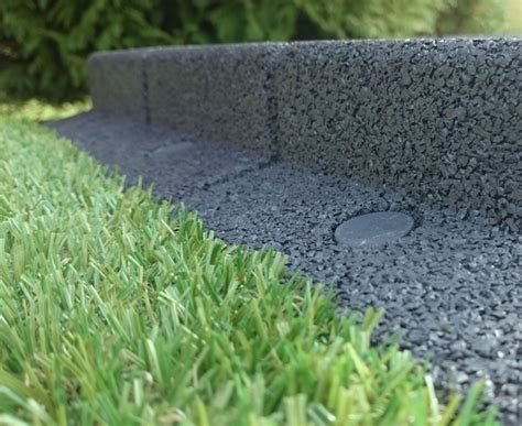 Landscape Edging Grey Flexi Border Garden Edging L100cm X H8cm Grey