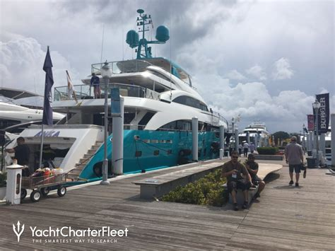 palm beach boat show times day 1 at the palm beach boat show 2017 yacht charter fleet