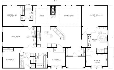 40x60 barndominium floor plans search house