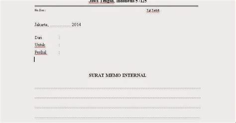 contoh memo kumpulan prosedur dan form