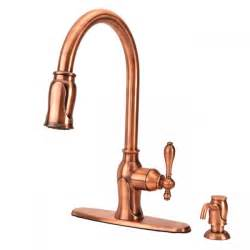 antique copper kitchen faucet fontaine ff chl4k ac pull kitchen faucet