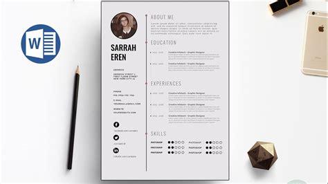 ms word resume template free creative resume templates microsoft