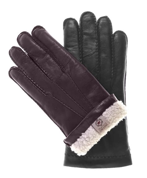 leather gloves s handsewn shearling winter leather gloves by fratelli orsini free usa shipping at