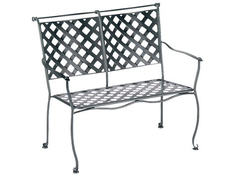 wrought iron storage bench woodard maddox wrought iron stackable bench 7f0004