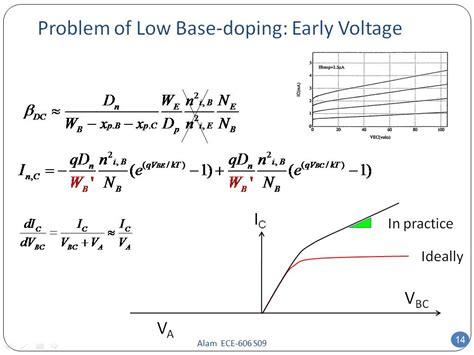 bjt transistor doping nanohub org resources ece 606 lecture 28 bjt design i presentation