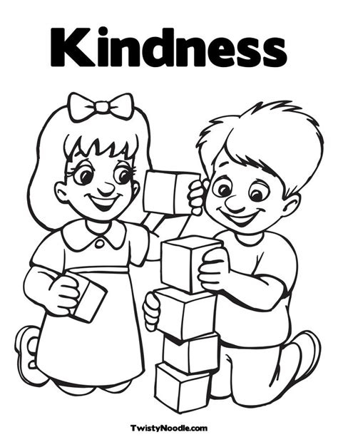 coloring pages kindness kindness to others coloring pages coloring pages