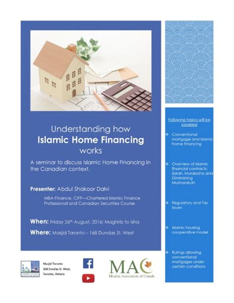 islamic loan for house islamic house loan masjid toronto