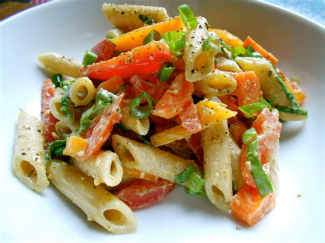 pasta salad vegetarian colorful vegetable pasta salad health inspirations
