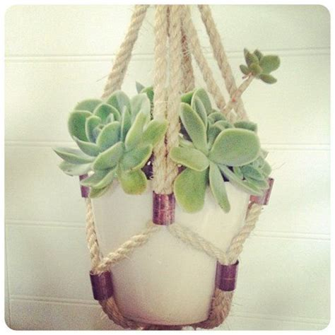 Diy Rope Hanging Planter by 1000 Ideas About Hanging Planters On Hanging