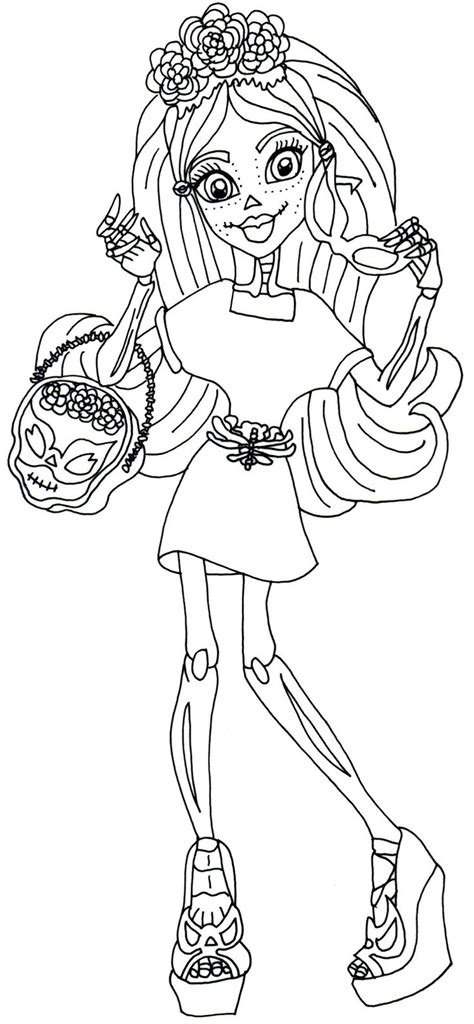 monster high coloring pages printerkids 81 monster high coloring book pdf monster high