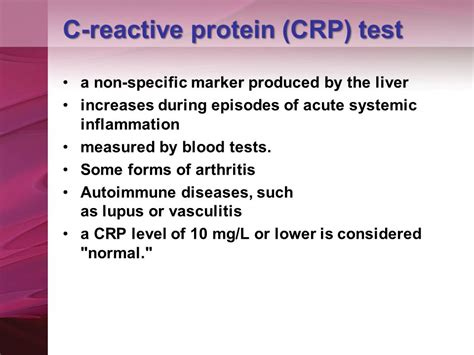 c protein normal range autoimmunity and autoantibody test ppt