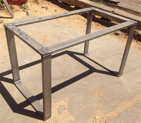 metal table base metal table base rolled steel 3x1 tubing metal