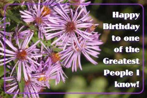 Happy Birthday Purple Flowers. Free Happy Birthday eCards