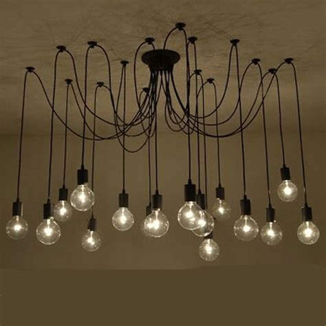Decorative Pendant Lights Retro Spider Pendant Lights Classic Decorative Loft L Edison Pendant Light Hanging Lights E27