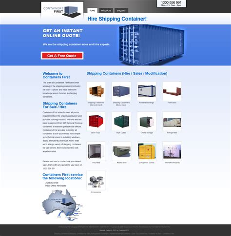 web layout container shipping containers website design melbourne melbourne