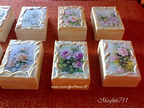 Tutorial Decoupage - tutorial bomboniere decoupage scatoline di legno