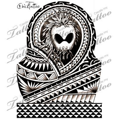 tribal warrior tattoo ikaika warrior half sleeve hawaiian design 111394