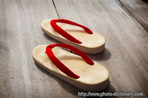 japanese sandals photopicture definition  photo