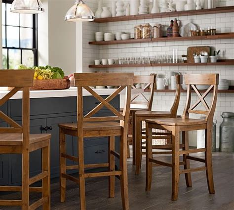 counter height bar stools pottery barn aaron barstool pottery barn dream home pinterest