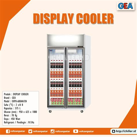 Chiller Freezer Gea jual expo 600ah cn display cooler brand gea harga murah