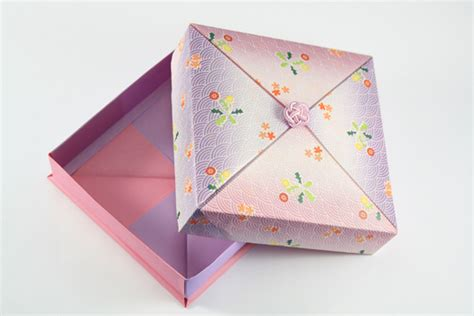 Easy Origami Gift Box - origamisan origami gift box