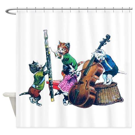 jazz shower curtain jazz cats shower curtain by rooseveltbears