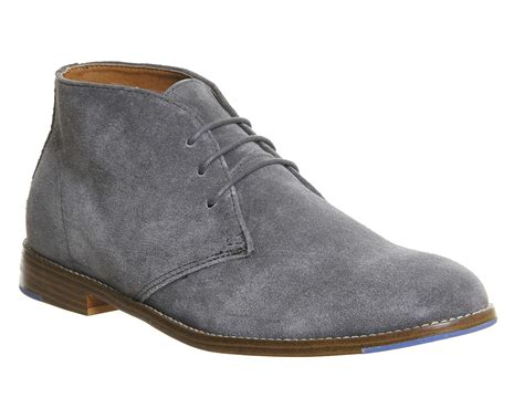 office mens boots office boycott desert boots in gray for lyst