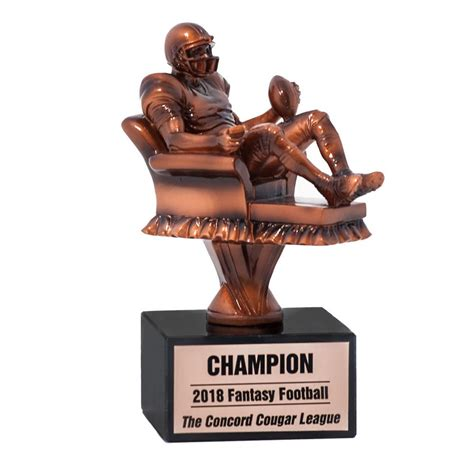 armchair quarterback trophy armchair quarterback fantasy football trophy mydraftday