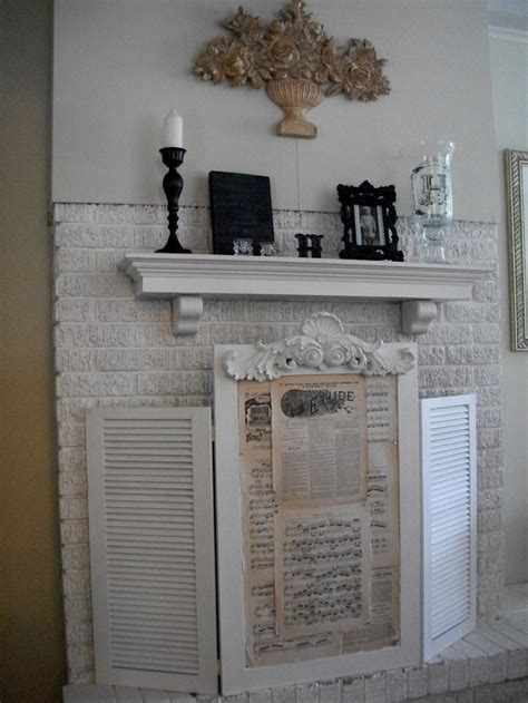 shutter fireplace screen cool mirror