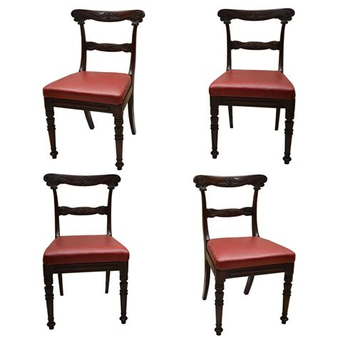 Four Wm 1v Anglo Indian Carved Dining Chairs For Sale At Indian Dining Chairs