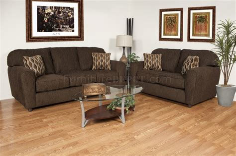 Council Sofa by Council Chocolate Fabric Modern Sofa Loveseat Set W Options