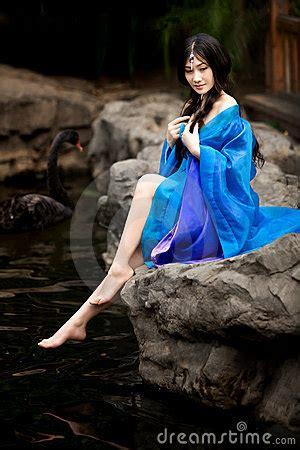 beautiful girl  chinese ancient dress stock photo