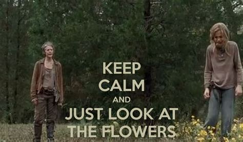 Look At The Flowers Meme - keep calm and just look at the flowers poster