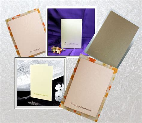 wedding invitation craft kit wedding invitation 10 per pack size folded 152 x 105mm
