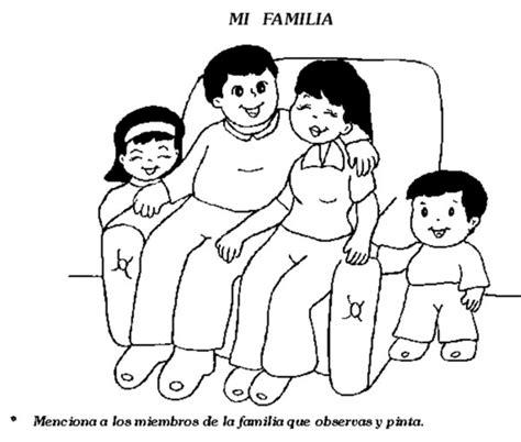 imagenes de la familia para colorear e imprimir dibujos infantiles del d 237 a de la familia para colorear