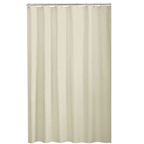 home depot shower curtains glacier bay dobby 72 in fabric shower curtain in taupe